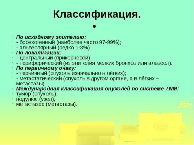 Опухоли - классификация
